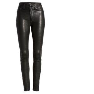 Hudson Barbara High Waisted Skinny Leather Pants